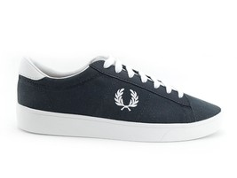 Fred Perry Men's Spencer Canvas / Leather Shoes Trainers B7523-491 - Cha... - $71.27