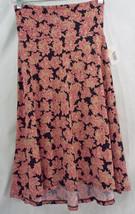 Womens LuLaRoe Azure Skirt Wide Waistband XS Black Burgundy Off White  NWT - $29.44