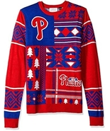 MLB Philadelphia Phillies Patches Ugly Christmas Sweater, Red, Small NWT NEW - $59.99