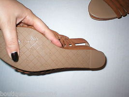 New $235 Womens 8.5 Donald J Pliner Wedge Platform Sandals Brown Shoes Suede image 5
