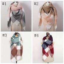 Hot Fashion Warm Cashmere Plaid Blanket Women's Warp Scarf Pashmina Shawl image 7