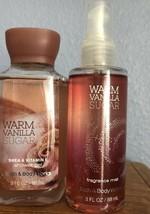 Bath & Body Works Warm Vanilla Sugar Shower Gel Fragrance Mist Set New 3 Oz - $9.74