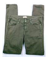 Paige Women's Jeans Size 28 Peg Ankle Skinny Army Green Stretch Denim - $40.78