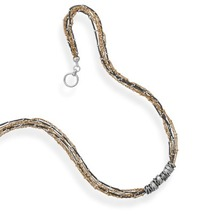 Unique Multistrand Beaded Toggle Necklace - $204.99