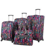 Lily Bloom Luggage Set 4 Piece Suitcase Collection With Spinner Wheels F... - $269.69
