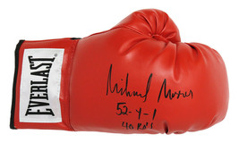Michael Moorer Signed Everlast Red Boxing Glove w/52-4-1, 40 Ko's - Schwartz - $98.01