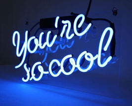 "New Your Are So Cool Acrylic Back Neon Light Sign 14"" Fast Ship - $60.00"