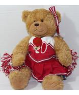 Build a Bear Workshop BROWN CENTENNIAL CHEERLEADER Stuffed Plush TEDDY N... - $22.86