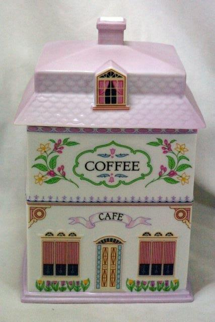 Lenox 1990 The Lenox Village Victorian House Coffee Canister