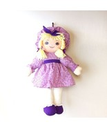 VTG Sweetie Mine Well Made Toy Doll Blue Eyes Yarn Blonde Hair Purple Dr... - $39.59
