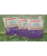 4mm ROUND BEADS THE BEADERY PLASTIC AMETHYST 3 PACKAGES 2.400 COUNT - $5.95