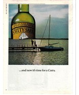 1976 Rare  Cutty Sark Color Print Ad ... and now it's time for a Cutty - NM - $4.99
