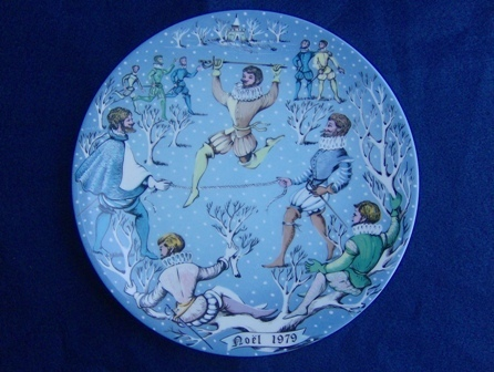 Haviland Limoges Days of Christmas Plate Lords Leaping