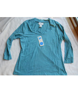 Covington Ladies Stretch Boatneck Knit Shirt Si... - $19.99