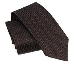 NWT GUCCI349391 Men's Interlocking GG Woven 100% Silk Tie, Brown - £123.73 GBP