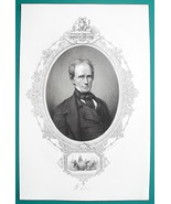 HENRY CLAY Statesman & Patgriot - 1856 Portrait Print Ornamental Border - $16.20