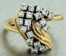 Ladies Vintage Estate 14K 585 Yellow Gold Clust... - $373.96
