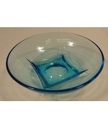 Designer 64-58FH Vintage Bowl Blue Depression Glassware 6in Glass - $38.66
