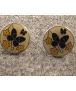 Cloisonne Butterfly Earrings Price Reduced - $3.00