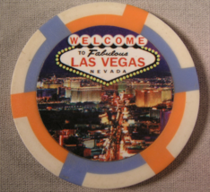 "N/D ""Welcome To ""Las Vegas"" Fantasy Casino Chips"" - (sku#2183) - $2.10"