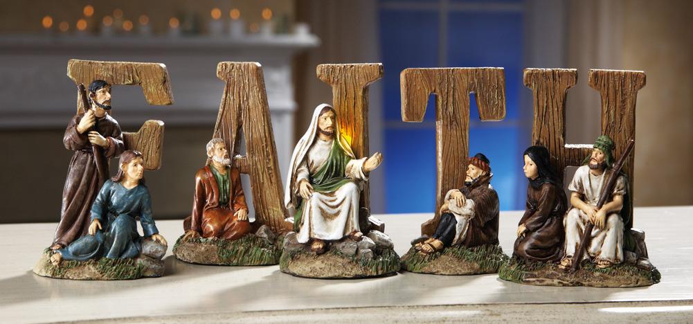 Easter lighted faith tabletop religious figurines