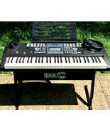 RockJam 61 Key Electronic Keyboard Piano RJ-561 LCD Stand Headphones AC ... - $79.19