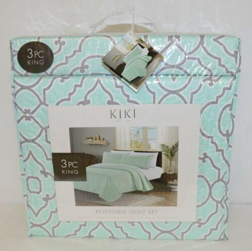 Kiki Collection BCSK25250 Three Piece Reversible Quilt Set King Size