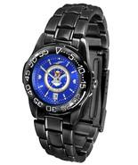 US Air Force Ladies Fantom Watch Gunmetal Finish Anochrome Blue Dial - $94.50