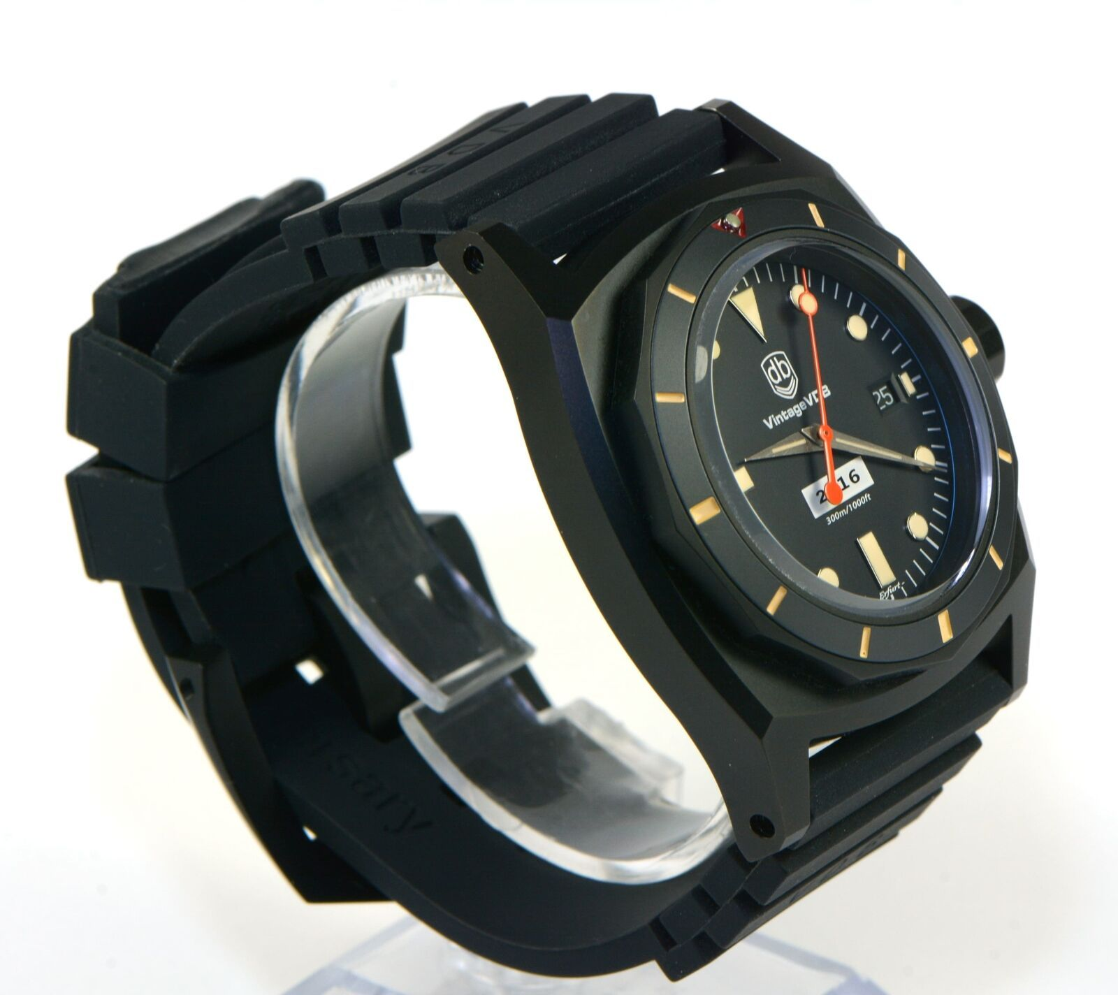Vintage VDB 2016 Black PVD Watch 46mm Limited to 30 Box Papers