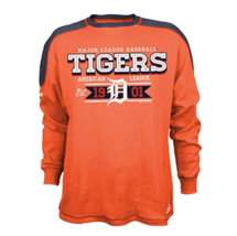 XL Men's MLB Detroit Tigers CVC Thermal Long Sleeve Shirt Baseball Stitches NEW