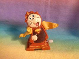 Vintage 1991 Burger King Disney Beauty & The Beast Cogsworth Wind-up Toy... - $2.23