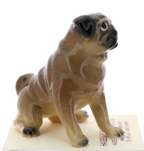 Hagen-Renaker Miniature Ceramic Dog Figurine Pug Fawn Mama Sitting and  Baby Pup image 12