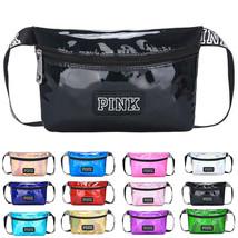 Shiny Leather Women Waist Belt Bag Fanny Pack Chest Pouch Sport Shoulder... - $20.72 CAD