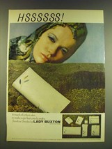 1966 Lady Buxton Shadow Shades Ad - Hssssss! A touch of cobra-skin - $14.99