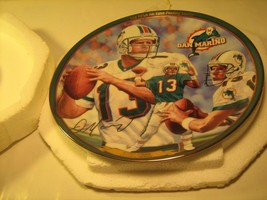 "8"" Porcelain Collector Plate DAN MARINO NFL All Time Passing Leader [Z19] - $18.95"