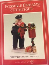 Clothtique Possible Dreams 'Protect and Serve' Police Officer Santa 6000799 - $64.30