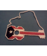 Puerto Rico Guitar Flag (White Trimming) - $10.00