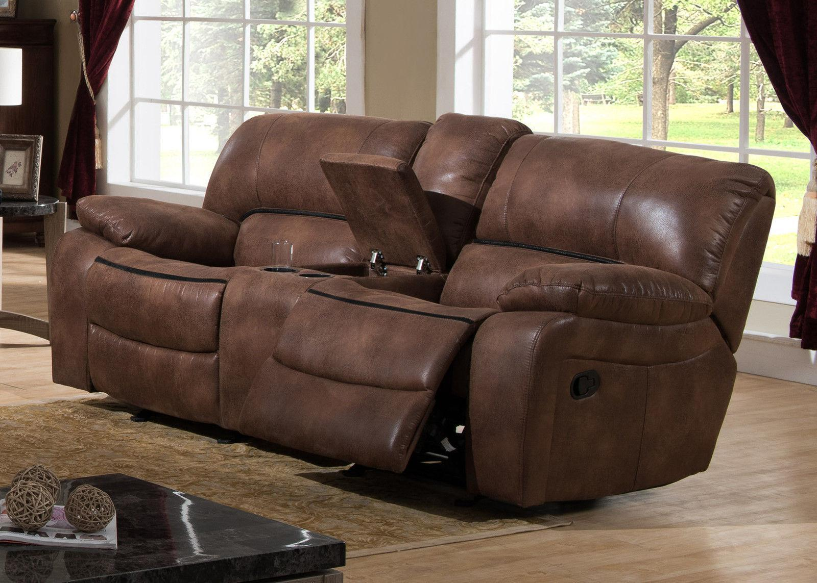 Modern brown fabric reclining living room set 3pcs ac - Fabric reclining living room sets ...