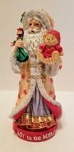 Joy to the World Santa Claus Teddy Bear Toy Sack Christmas Figurine Sign... - $7.28