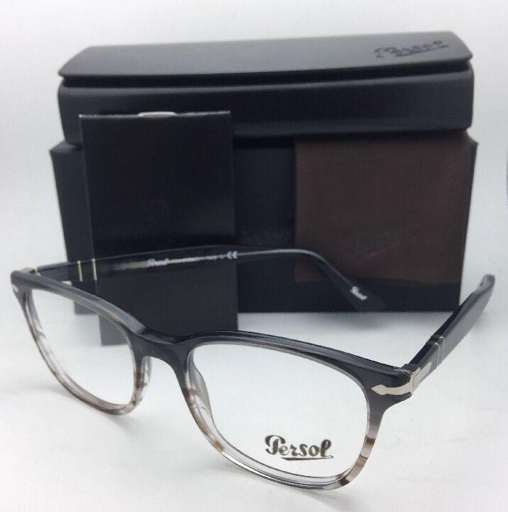 54d1b9933de0 New PERSOL Rx-able Eyeglasses 3119-V 1012 53-19 145 Grey Gradient