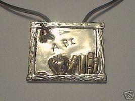 Silver Blackboard Pendant / Brooch By Best Jewelry - $7.77