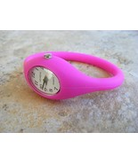"SPRING SALE - GENEVA HOT PINK SILICONE ""SLIDER""  SPORT WATCH - $7.53"