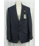 Ralph Lauren Mens Sports Coat Sz 40R Regular Blue Black Plaid Wool Blaze... - $168.26