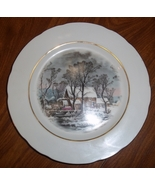Currier & Ives AVON Rep Exclusive 1977 Cookie Plate Winter The Old Grist... - $12.95