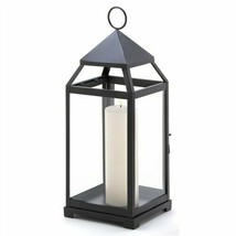 Large Black Contemporary Metal Candle Lantern - $28.78