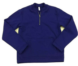 Men's M Pullover Half Zip Crewneck Sweatshirt Blue American Apparel HVT New - $19.60