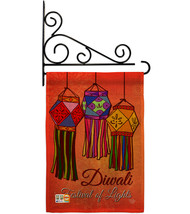 Festival Of Lights Burlap - Impressions Decorative Metal Fansy Wall Bracket Gard - $33.97