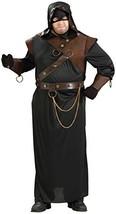 Forum Novelties Men's Medieval Executioner Costume, Black/Brown, Plus Size - $49.44