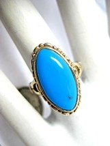 Vintage Sterling Silver Turquoise Ring Southwest Style Size 5 925 Thaila... - $1.054,95 MXN