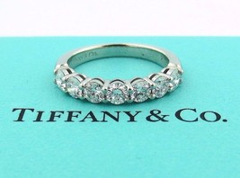 Tiffany & Co Platinum Shared Setting .91CT .93 Diamond 3.5MM Band 4.5 W/ Papers - $5,175.00